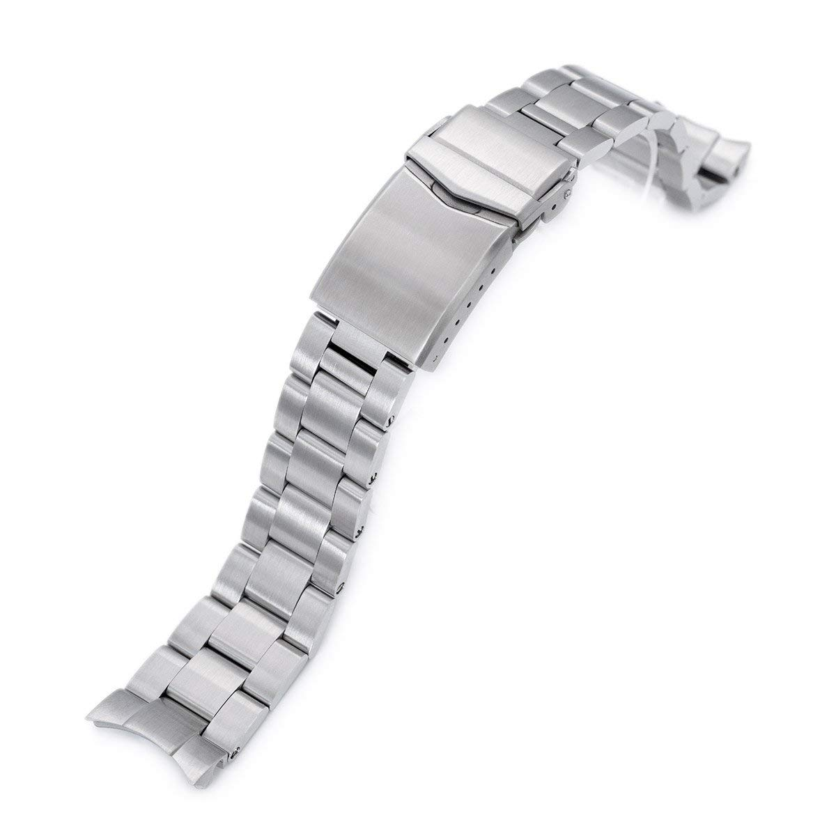 20mm Super 3D Oyster Watch Bracelet for Seiko Mechanical Automatic SARB033, Brushed