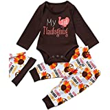 GRNSHTS Baby Girls Boys 3Pcs My 1st Thanksgiving Thanksgiving Pants Set With Hat