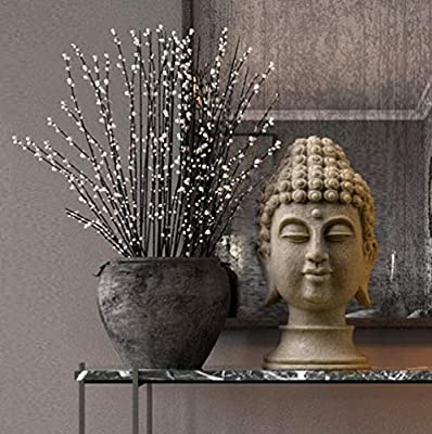 ZNYLX Estatua de Buda Figuras Estatua de Buda Chino para Resina de jardín Decoración de Estatua de Piedra Arenisca de Cabeza de Buda Grande Decoración de Buda, laxseed Yellow: Amazon.es: Hogar