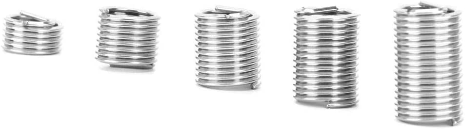 60pcs Wire Screw Sleeve Assortment Kit M91.25 Stainless Steel Helical Type Thread Repair Insert Thread Screws Sleeve Set