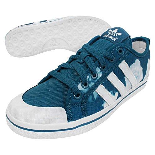adidas Originals Miel Tiras Deportivas de Lona Azul Blanco Rosa Zapatos d65970, Número Zapato: 1/3; Color Azul