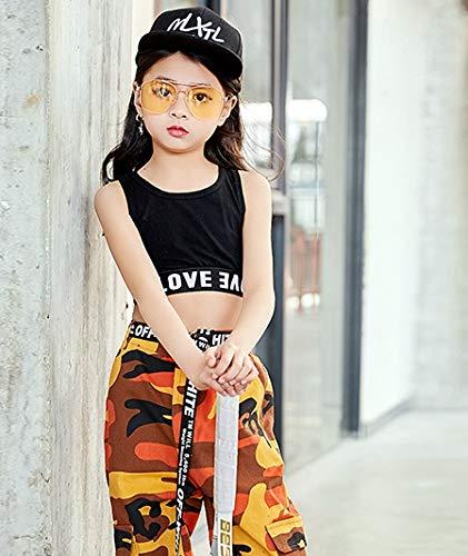 5c1e155f16be6  インソミラ  InSomila 子供服 ハーフトップ タンクトップ キッズ 女の子 ダンス ヒップホップ スポーツ