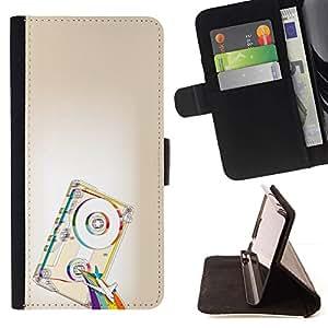 Momo Phone Case / Flip Funda de Cuero Case Cover - Psicodélico de la cinta del arco iris;;;;;;;; - Motorola Moto E ( 1st Generation )