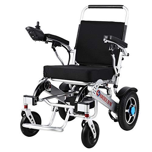 silla de ruedas eléctrica plegable muy ligera un reposapiés