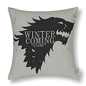 CaliTime Cushion Cover Throw Pillow Shell 18 X 18 Inches, A Game of Thrones Houses Badages, Stark