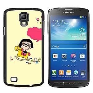 YiPhone /// Prima de resorte delgada de la cubierta del caso de Shell Armor - Kepka devushka hip hop Veschi - Samsung Galaxy S4 Active i9295