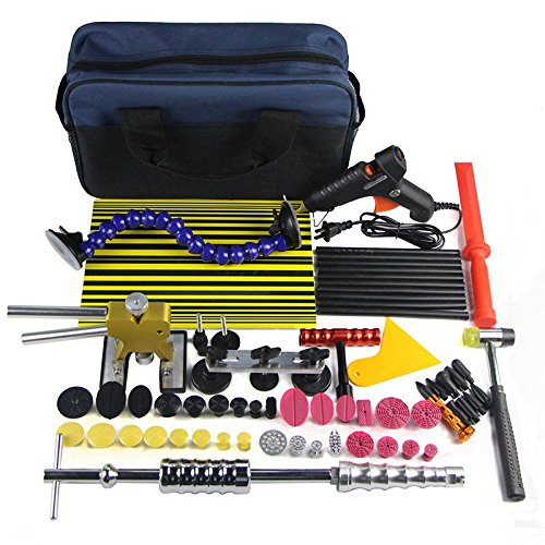 Wcaro Automotive Paintless Dent Repair Tools Kit Dent Remover Hail Repair Tool PDR Rods Professional PDR Tools Ding Dent Repair Rods Paintless Hail Removal Big Kit(A2-A6,B2-B11,C1-C6) by Wcaro (Image #5)
