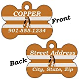 Disney Fox and the Hound Double Sided Pet Id Tag for Dogs & Cats Personalized with 4 Lines of Text (Copper)