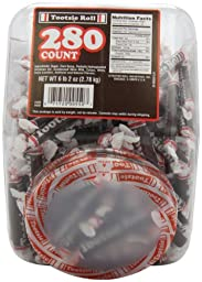 Tootsie Rolls (280-Count), 98-Ounce Tub