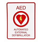 First Voice TS-151P AED Wall Sign, Flat, Plastic, 11.5'' x 8.5'', White/Red
