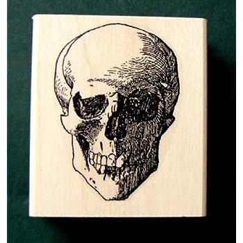 Skull Rubber Stamp WM P20