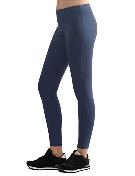 8a6d75f2b37261 Lock and Love LL WB962 Womens Tights Ankle Length Legging Pants S ASH_Blue