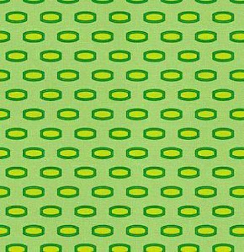 FidgetGear Heather Bailey Bijoux Mod Beads in Lime Fabric 1yd HB11 100% Cotton Show One Size