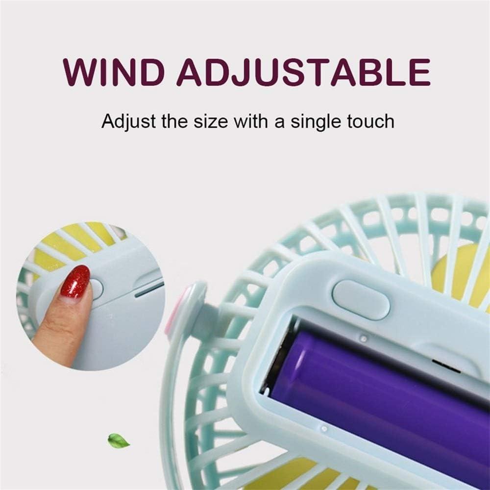 XIANGNAIZUI Mini Desk Fan USB Rechargeable Clip Fan with 1200//2000mAh Battery 360 Degree Adjustable Cooling Fan for Stroller Office Outdoor Color : No Battery Pink