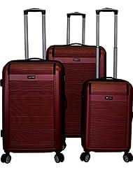 Kemyer 550 Plus TSA Lock Lightweight 3-PC Expandable Hardside Spinner Luggage Set