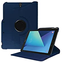 Fintie Samsung Galaxy Tab S3 9.7 Case, Premium PU Leather 360 Degree Swivel Stand Cover with S Pen Protective Holder Auto Sleep / Wake for Tab S3 9.7 (SM-T820 / T825 / T827) 2017 Release, Navy Blue
