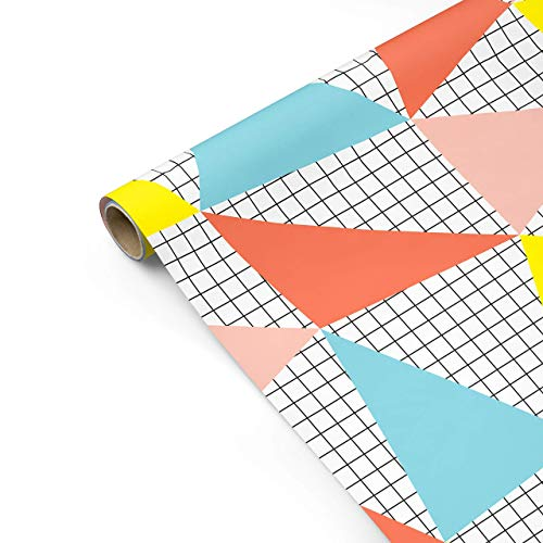 Birthday Banner Gift Wrapping Paper - Colorful, Modern, Boy, Girl, Gender Neutral, Baby Shower, Geometric, Scrapbooking, Craft Paper
