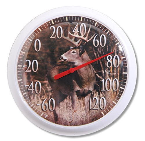 Springfield Country Deer Low Profile Patio Thermometer (13.25-Inch) ()