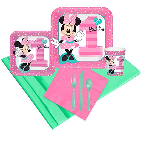 Disney Minnie Mouse 1st Birthday Party Supplies - Party Pack 16 -