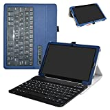 Huawei MediaPad M5 10.8 Bluetooth Keyboard Case,Mama Mouth Slim Stand PU Leather Cover with Romovable Bluetooth Keyboard for Huawei MediaPad M5 / M5 Pro 10.8'' 2018 Android Tablet,Blue