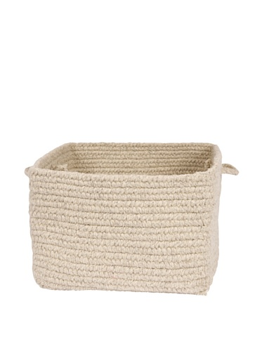 Colonial Mills Chunky Natural Wool Basket, Light Gray, 12...