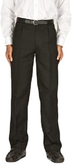 Zeco Extra Long Boys School Trousers Black 30-40in waist up to a 35in leg