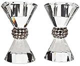 Set of 2 Godinger Pageant Bling Crystal Candlesticks