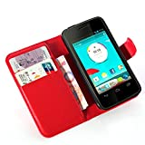 Altumcloud (TM)New 2016 Hot Sale Leather Wallet Pouch Flip Case Cover For Vodafone Smart 4 Mini High Quality & s Nice