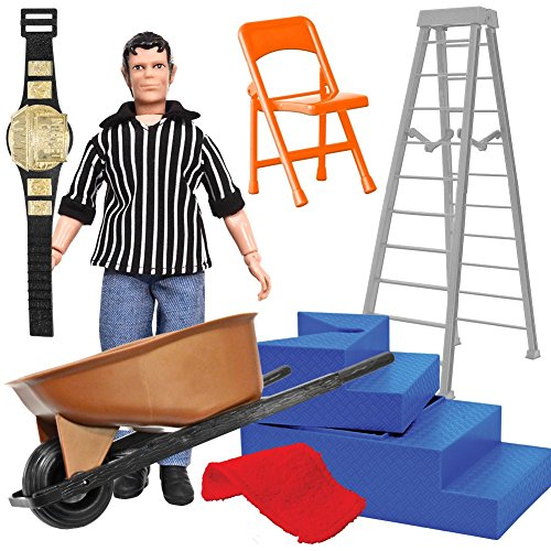 Wrestling Referee & Gear Action Figure Accessory Kit