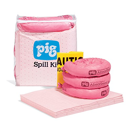 HazMat Spill Kit in See-Thru Bag by New Pig, Absorbs Hazardous Chemicals - Acids, Bases & Unknowns, 5-Gal Absorbency, Portable Bag, KIT367 by New Pig Corporation