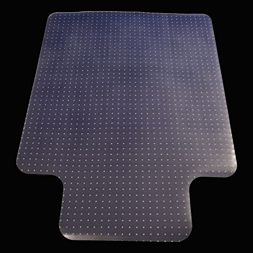 Z ZTDM Transparent 48'' x 36'' PVC Home Office Chair Mat with Lip for Carpet, No for Hard Floor by Z ZTDM