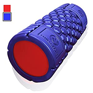 Epitomie Fitness Muscle Foam Roller Revolutionary Textured Grid Exercises & Massages Muscles Super High Density EVA Provides Deep Tissue Massage for Back, IT Band, Legs & Arms …