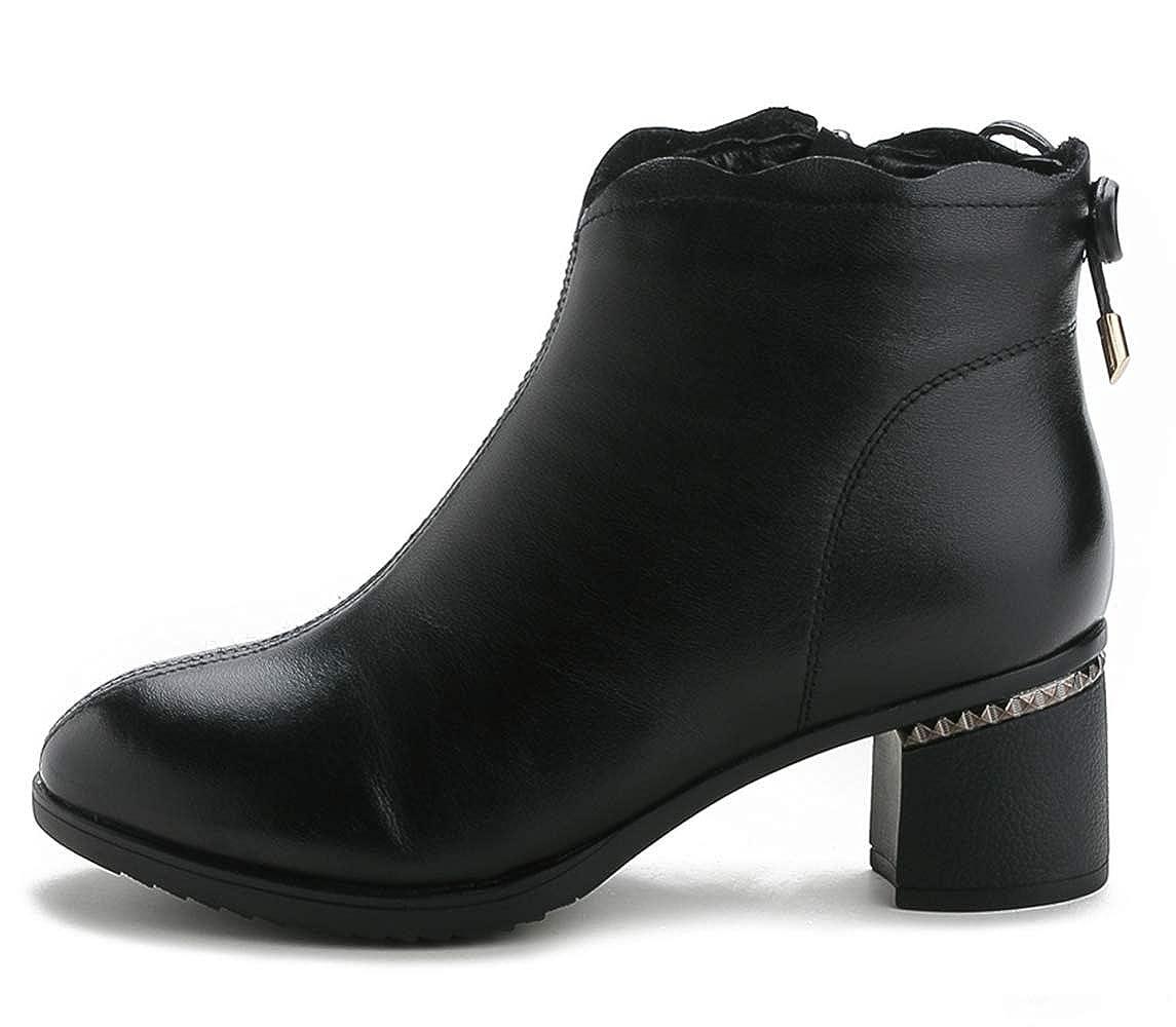 Shiney Frauen Stiefel Komfortable Echtes Leder Seitlichem Reißverschluss Mode Baumwolle Stiefel High Heel Herbst Winter