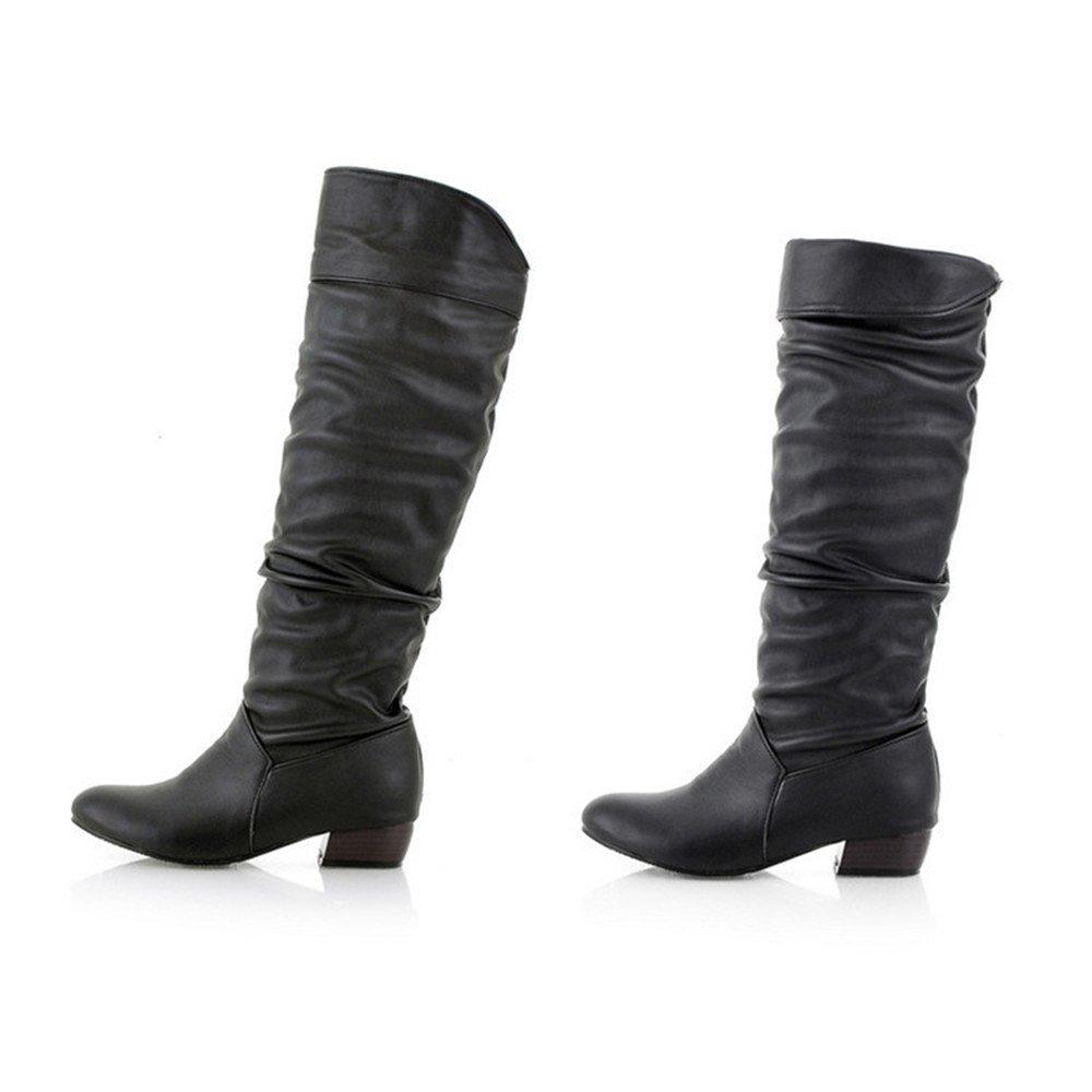 Beikoard -20% Sneakers Stivali Invernali Alti da Donna Stivali Alti da Equitazione con Tacco Piatto