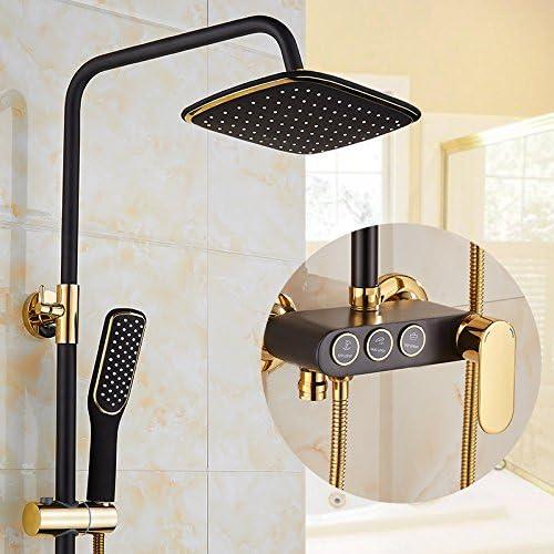 Mangeoo El estilo europeo de cobre dorado, ducha WC, ducha, grifo booster boquilla, ducha fría y caliente, baño,la perilla negra pistola de pulverización: Amazon.es: Bricolaje y herramientas