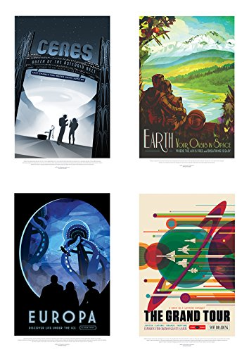 NASA POSTER SPACE GRAND TOUR TRAVEL ADVERT PACK x 8 POSTERS ART PRINTS - 2 Mail Time Day Priority Delivery
