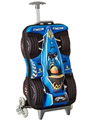 Fenza Racing Trolley - Childrens Carry-on Hand Luggage Racing Car Design 21x14x8 Inches (Blue)