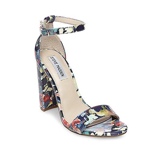 Floral Leather Heels (Steve Madden Women's Carrson Floral 415 5.5 US)
