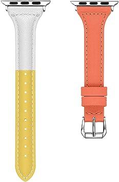 Reloj Digital de Cuarzo Fitness para Apple Pulsera de Piel de ...