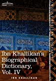 Ibn Khallikan's Biographical Dictionary, Ibn Khallikan, 161640339X