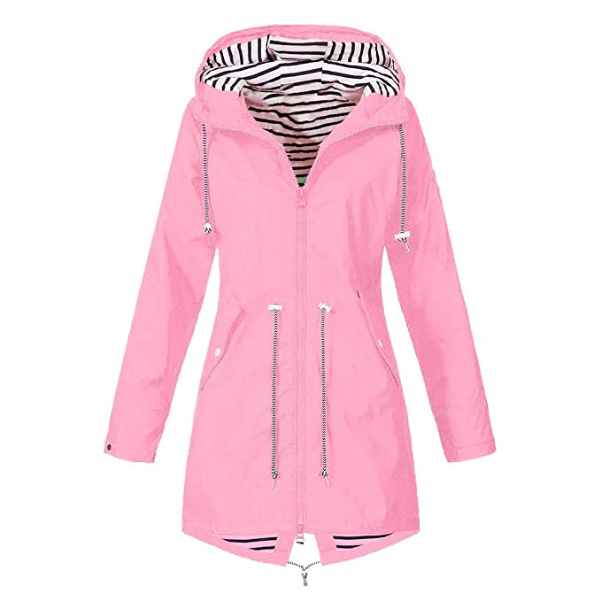 New Mens PU Rubber Hooded Festival Raincoat Mac Gents Jacket with Drawcord