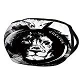 Fashion Cotton Antidust Face Mouth Mask,Lion,King of the Forest Lion Head Portrait Freedom Sketchy Monochrome Wild Animal Decorative,Black and White,for women & men