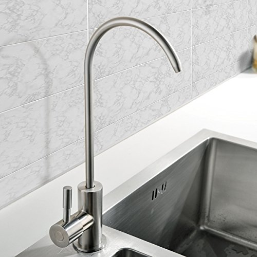 VCCUCINE Modern Antique Stainless Steel Single Handle Kitchen Sink Reverse Osmosis Filter Drinking Water Brushed Nickel Purifier Faucet, Beverage Water Filtration Faucet by VCCUCINE (Image #4)