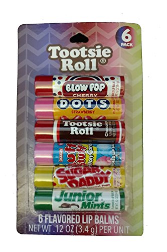 Flavored Roll - Taste Beauty Smiles You Can Taste - 6 Candy-Flavored Lip Balms (Tootsie Roll)