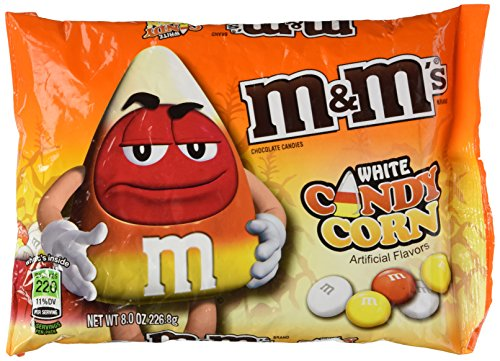 Candy Corn Treat Bags - M&M's Candy Corn White Chocolate Candies 8 OZ Bag