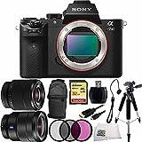 Sony Alpha a7II ILCE-7M2/B ILCE-7M2 ILCE-7M2 Compact Full Frame Mirrorless Camera + FE 28-70mm f/3.5-5.6 OSS Lens +16-35mm Vario-Tessar T FE F4 ZA OSS E-Mount Lens + 32GB Bundle 10PC Accessory Kit