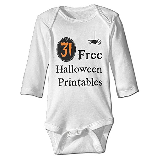 Unisex 31 Free Halloween Printables Long-sleeve Bodysuit Onesies Clothes (Printable Skeletons Halloween)