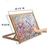 Falling in Art Extra Large 5-Position Wood Drafting Table Easel Drawing and Sketching Board, 29 1/2 Inches by 19 2/3 Inches