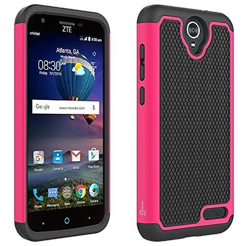 ZTE ZMax 3 Case, ZTE ZMax Champ Case, ZTE Zmax Grand Case, ZTE Grand X3 Case, ZTE Avid 916 Case, CoverON [HexaGuard Series] Protective Hard Hybrid Phone Cover - (Zte Zmax Phone Case Pink Hybrid)