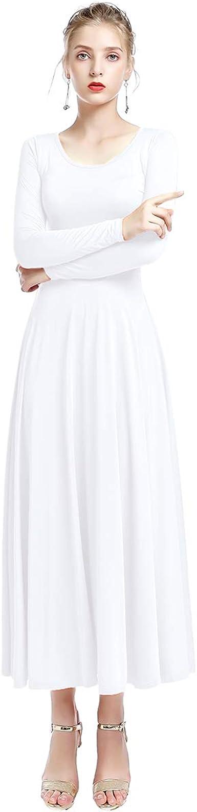 FYMNSI Vestido Largo Litúrgico para Mujer Danza Baile Maillot ...
